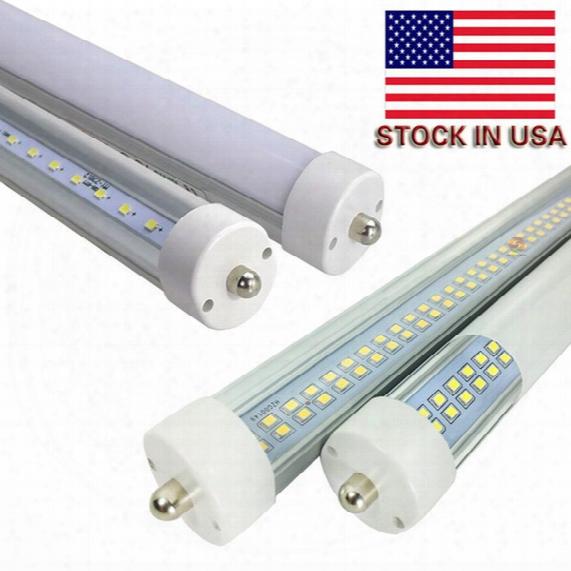 Ul Fcc 8ft Led T8 Tubes T8 Single Pin Fa8 Led Tubes Light 45w 72w High Lumens Ac 85-265v Stock In Us