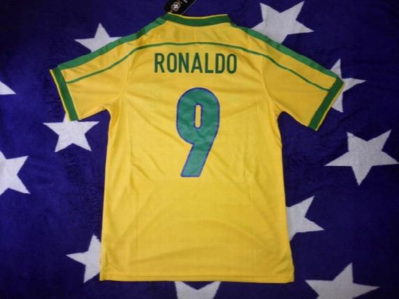 1998 World Cup Final Brazil Jerseys Retor Jerseys Classic Football Shirts Sports Clothes Ronaldinho Ronaldo Rivaldo Roberto Carlos