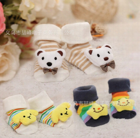 20 Pairs Cute Cartoon Star Bear Panda Soft Warm Newborn 3d Baby Socks Infant Kids High Quality Free Shipping