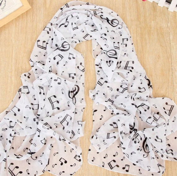 2016 Fall Fashion Women Scarf Burgundy Music Note Scarf Sheet Music Piano Notes Print Designer Scarves Echarpes Foulards Femme