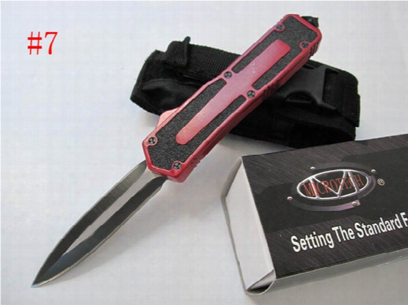 7 Styles Microtech Scarab 440c Steel 58hrc Aluminum Handle Tactical Knife Micro Collection Knife With Retail Box F246e