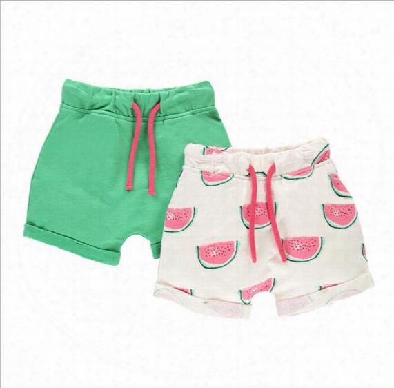 Bst15 New Arrival Little Maven 2017 100% Cotton Cartoon Watermelon Girls Kids Pants Girls Causal Summer Shorts Free Ship