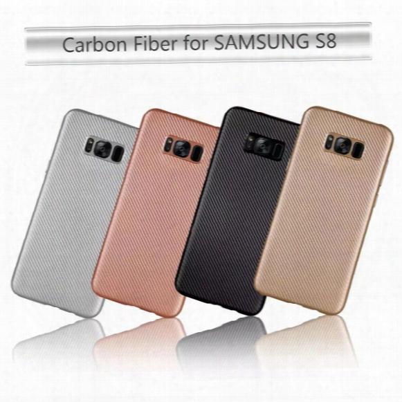 Carbon Ultrathin Fashion Fiber Soft Tpu Case For Lg G6 K8 K10,galaxy S8/plus/a320 A520 A720 (a3 A5 A7)2017 Shockproof Silicone Skin Cover