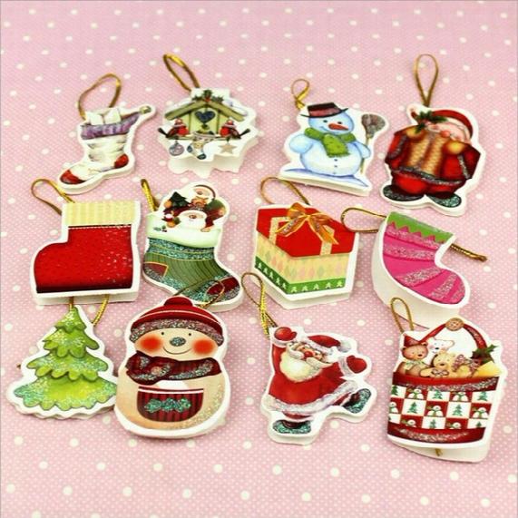 Foldable Chirstmas Gift Card Christmas Tree Greeting Card 36 Patterns Mix Order