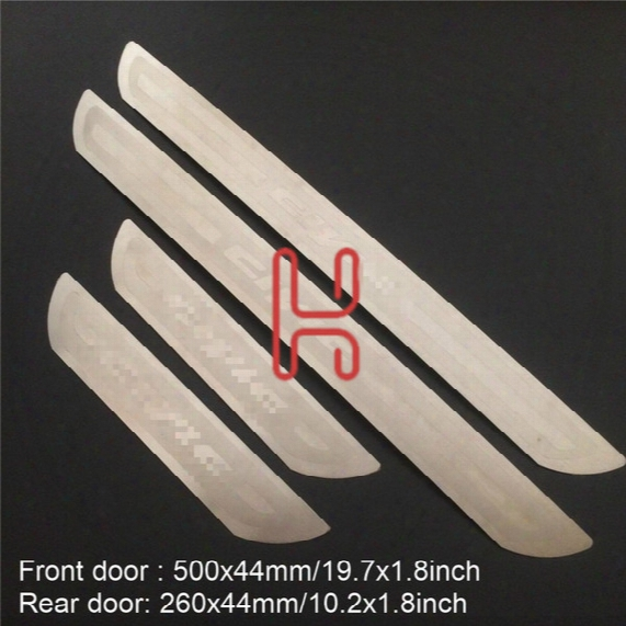 For Honda Civic 2017 2016 Accessories Door Sill Scuff Plate Guard Stainless Steel Door Sills Protector Sticker Car Styling