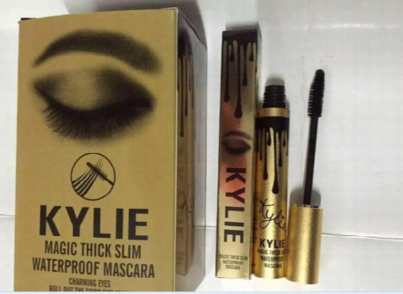 Free Shipping!new High Quality Kylie Mascara Magic Thick Slim Waterproof Mascara Black (24pcs/lot)