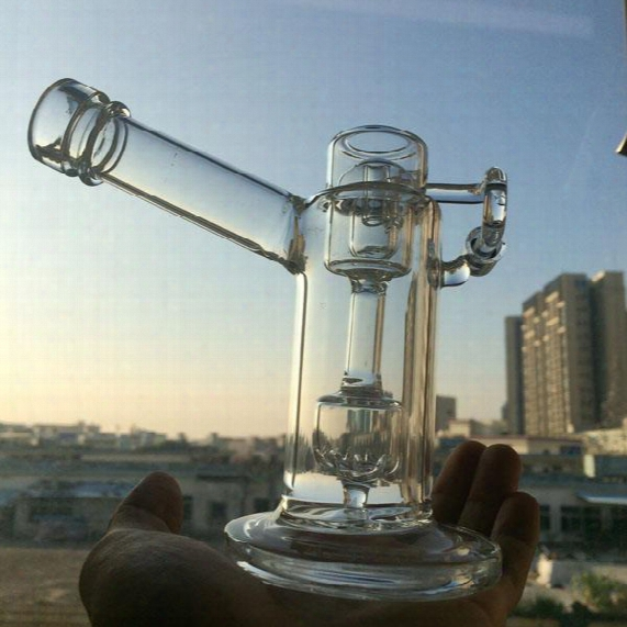 Heady Mobius Glass 5 Inch Tall Mobius Matrix Sidecar Glass Bong Birdcage Perc Glass Bong Thick Glass Water Smoking Pipes