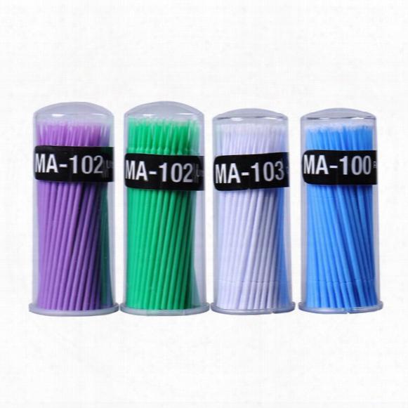 Hot 100pcs/pack Disposable Cotton Swab Eyelash Extension Micro Individual Applicators Home Mascara Brush Cotton Soft Swab Safe