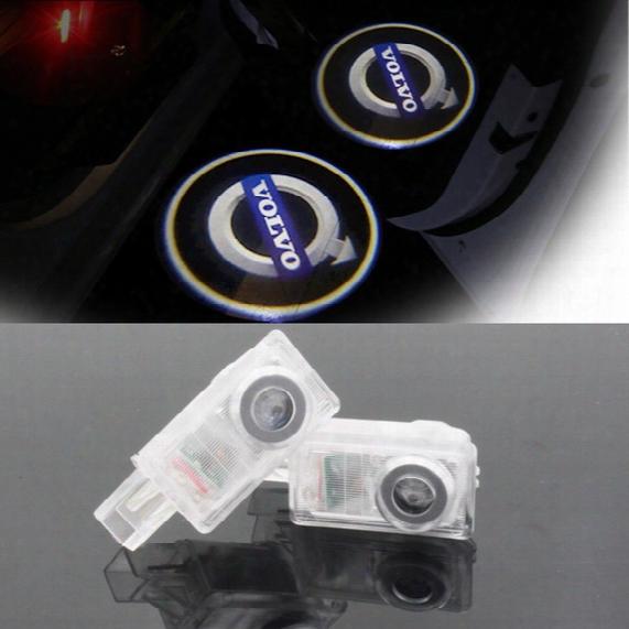 Led Car Volvo Door Courtesy Laser Projector Logo Ghost Shadow Light For Volvo Xc90 S60 C70 V60 V50 V40 Xc60 S60l S80l
