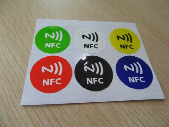 Pet Nfc Tag Stickers Adhesive Rfid Tags Label 6 Different Colors Alarm Clock Control All Android Phones Compatible 6pcs/lot