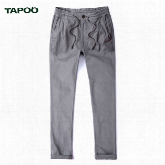 Tapoo All-match Men's Brand Pants Casual Fashion Designer Joggers Outdoors Straight Plain Retro Cargo Trousers Pluss Size Pants