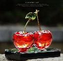 5ml Cherry Design Crystal Car Perfume Bottle Glass Scent Bottle Cosmetic Container Car Decoration Air Freshener