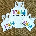 Kids Mermaid Print Tank Tops Summer 2017 Baby Kids Boutique Clothing 1-4 Year Little Girls Cartoon Mermaid White Vest Tee Tops