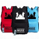 Muse backpack Pop music band school bag Quality Free shipping cartoon day pack Hot sale game daypack