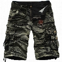 Wholesale- 2017 Cargo Shorts Men Hot Sale Casual Fashion Summer Style Clothing Army Work Shorts Men Cotton Loose 7 Colors No Belt 42