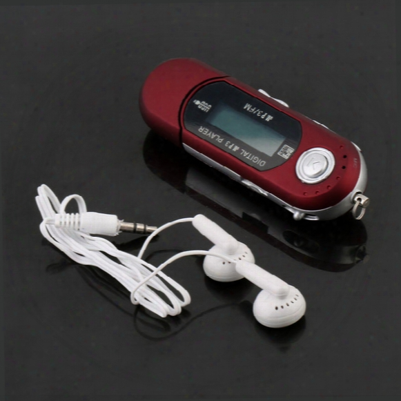 Wholesale- Oxa New Usb2.0 32g Tf Card Slot Supported Usb Flash Drive Lcd Display Mp3 Player With Fm Radio Earphone