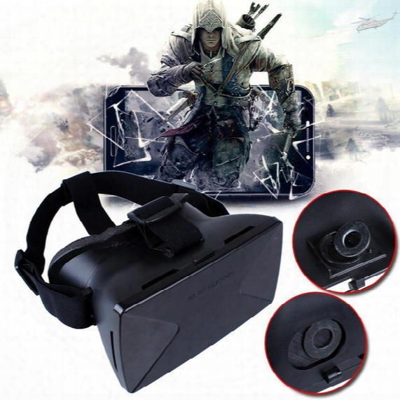 "Wholesale- Virtual Reality Vr 3d Glasses For Samsung Iphone 4.7 5.5 6.5"" Google Cardboard"