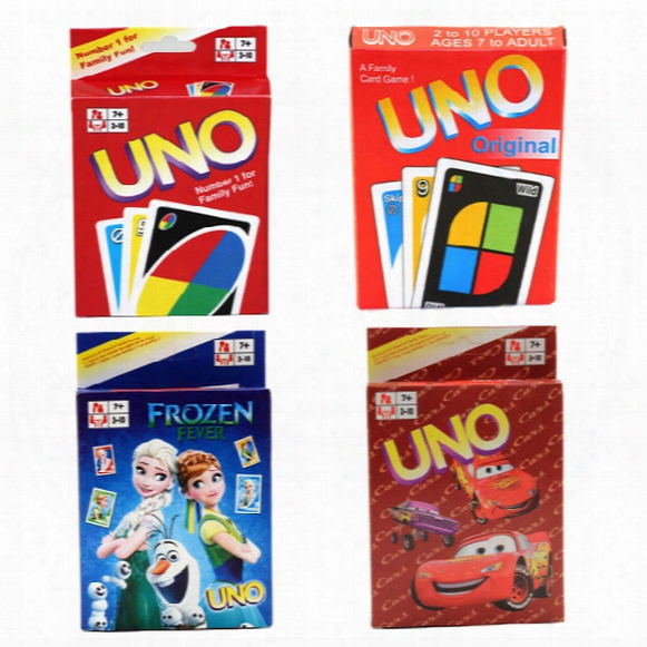 2016 Newest Uno Frozen Poker Card Family Fun Entermainment Board Game Kids Funny Puzzle Game Uno Card Board Games Free Shipping