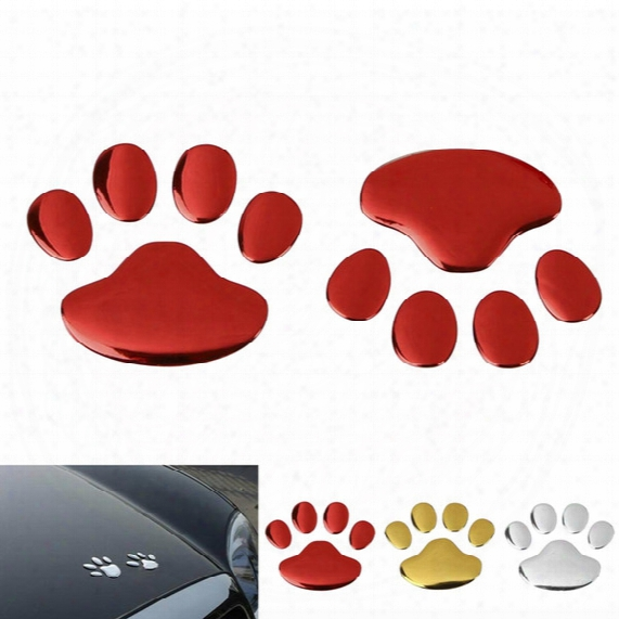 3d Pvc Auto Car Sticker Funny Decals Dog Paw Footprint Nick Cover Sticker Car Styling Decoration Cea_30d