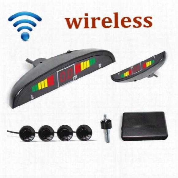 Car Led 4 Sensors Wireless Parking Sensor Reversing Backup Radar 10 Colors