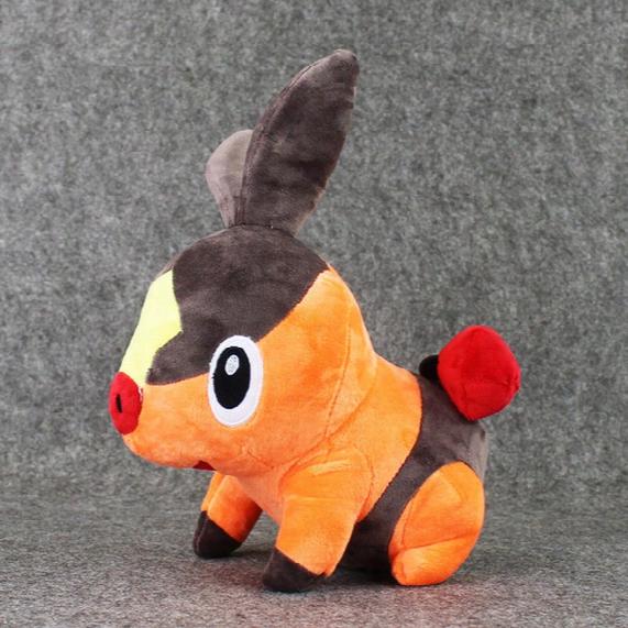 "Hot Sale 3pcs/lot 11.5"" 30cm Tepig Pocket Monsters Pikachu Plush Animals Toys Cartoon Stuffed Dolls Brinquedo Kids Gift New"