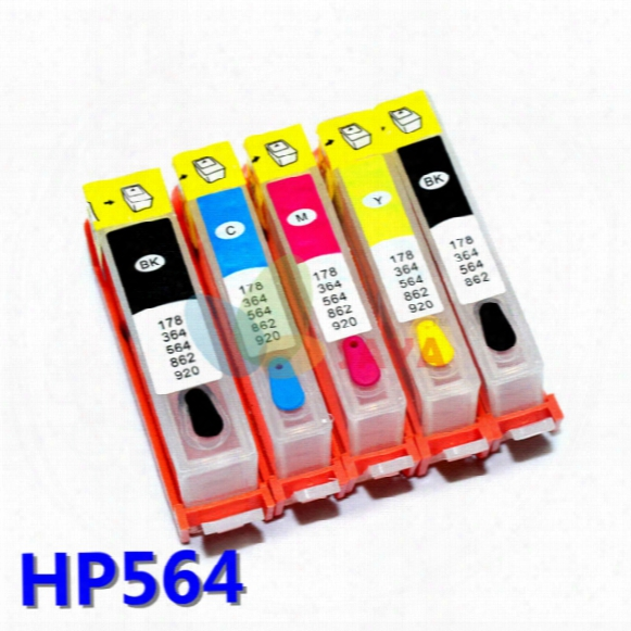 Ink Tank For Hp Photosmart 6510 6512 6515 6520 7515 7520 B8550 C6340 C6350 D5445 D7560 Refillable Ink Cartridge Arc Auto Chips