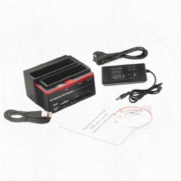 Wholesale- 2.5 Inch 3.5 Inch Sata Ide Hdd Docking Station Hard Disk Drive Usb Hub Card