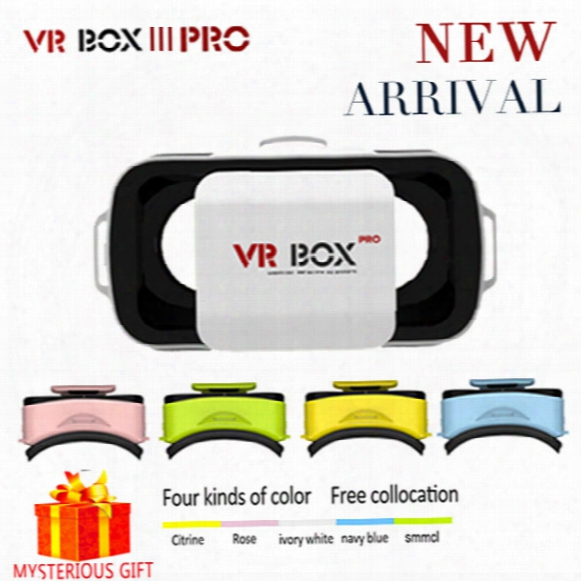 Wholesale- Google Cardboard Vr Box 3.0 Iii Pro Virtual Reality Goggles Casque 3d Glasses 3 D Vrbox Video Game For Smartphone Helmet Headset