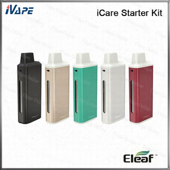 100% Original Eleaf Icare Starter Kit 650mah 1.8ml Built-in Tank Airflow Adjustable With 650mah Battery New Ic Head