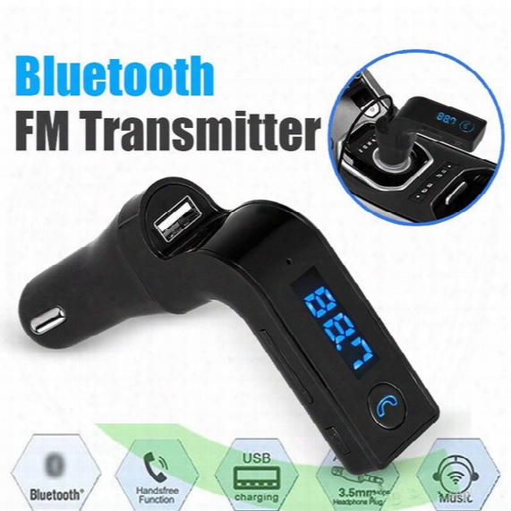 2017 New For Iphone, Samsung, Lg, Htc Android Smartphone Bluetooth Fm Transmitter Wireless In-car Fm Adapter Car Kit With Usb Car Charger