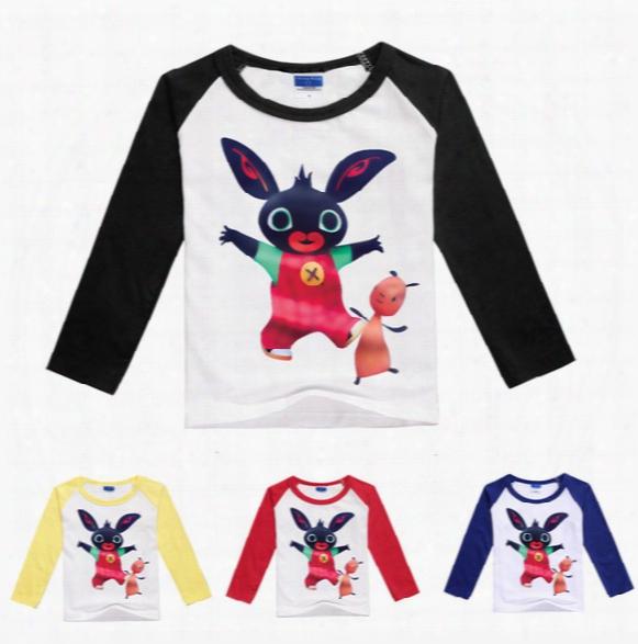 2017 Summer Boys Girls Cartoon T Shirts Bing Bunny Children Tees Clothing Free Shipping In Stock