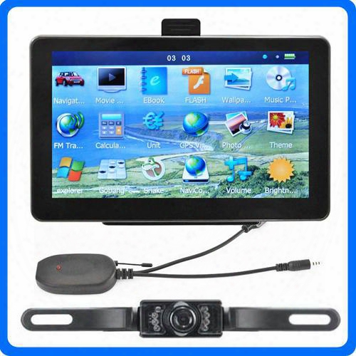 7 Inch Bluetooth Car Gps Navigation Avin For Wireless Ir Reverse Camera Truck Gps Navigator System Preloaded Poi 8gb Newest Igo Primo Maps