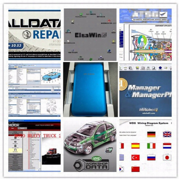 Alldata 2017 Auto Repair Software All Data V10.53+mitchell On Demand +moto Heavy Truck+atsg 47 In1 1tb Hdd For All Cars And Trucks