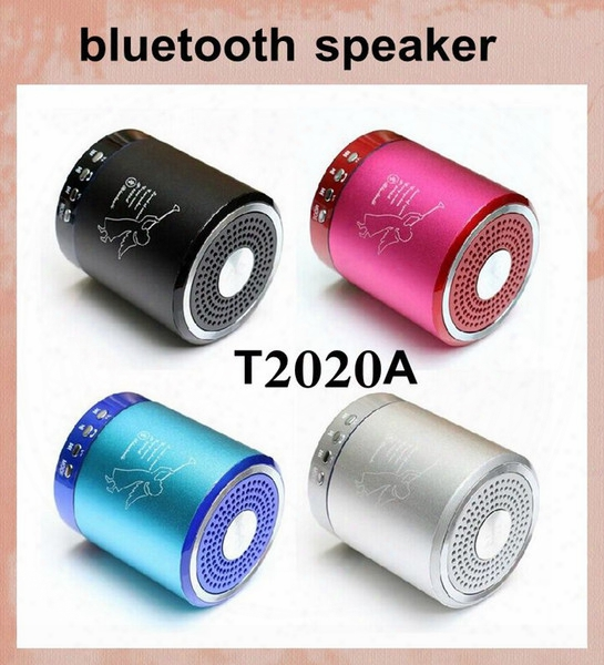 Angel Speaker T2020a Portable Wireless Bluetooth Mini Bass Stereo Speaker Metal Alloy Support Tf Card Usb Handfree Hifi Musci Player Mis061