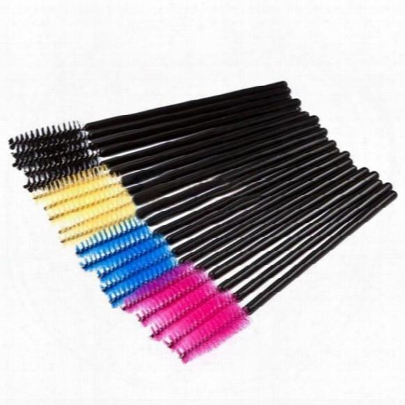 Attractive 50000pcs/lot Make Up Brush Pink Synthetic Fiber One-off Disposable Eyelash Brush Mascara Wands Applicator Wand Brush