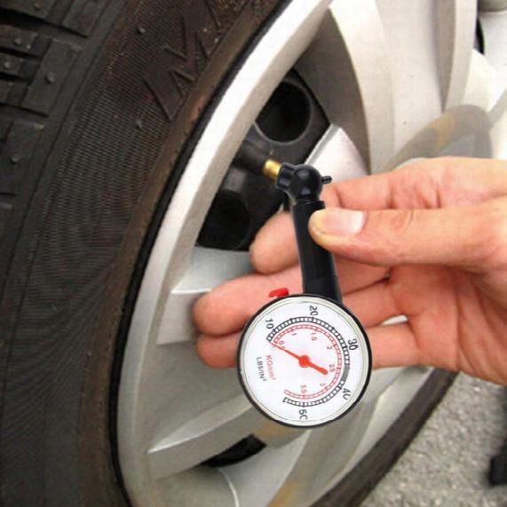 Car Motor Bike Dial Tire Air Pressure Gauge Meter High Precision Car Tyre Pressure Measurement For Car Diagnostic Tools 0.5&3.5 / 10-50