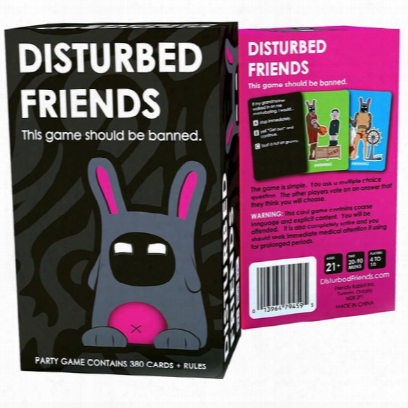 Disturbed Friends This Game Should Be Banned Card Against Game Sales Of All Kinds Of Popular Card Game Free Dhl/sf