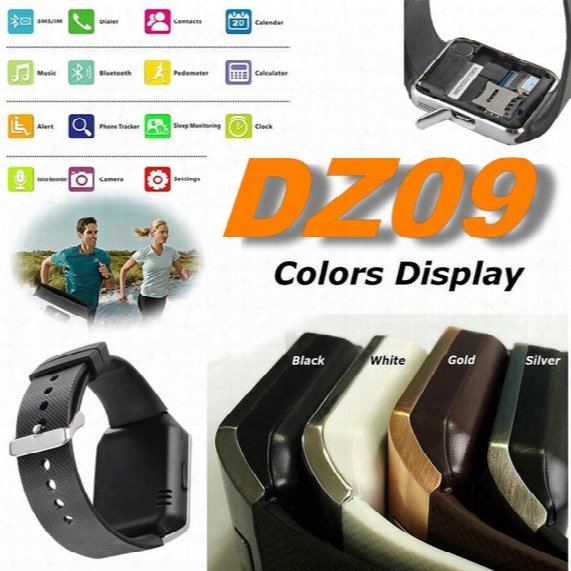 Dz09 Bluetooth Smartwatc H Phone For Android Lg Htc Sim Card Wrist Watch Pk U8 Gt08 A1 Gv18 Smartwatch Smart Watches Sb-dz09