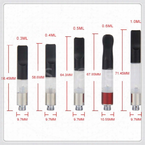 E Cigarette Vape Cartridge Vaporizer Wax Wickless Oil Cartridge Atomizer 510 Thread Tank For Ecigarette O Pen Vape Pen Bud Touch Battery