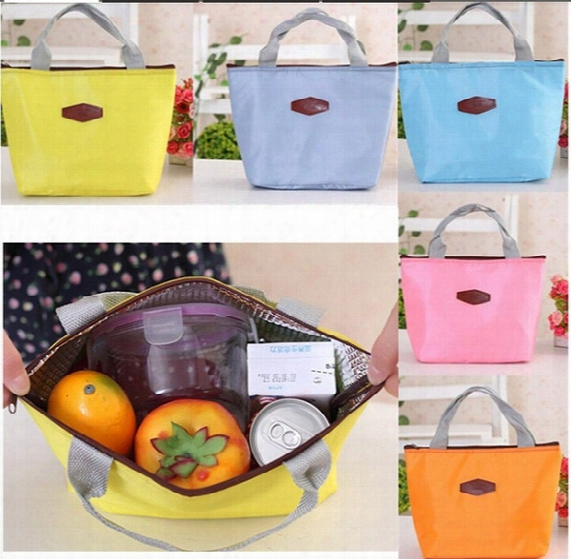 Fashion Thermal Cooler Insulated Waterproof Lunch Carry Storage Picnic Food Waterproof Travel Tote Bag