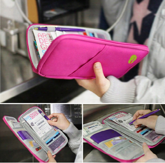 Fashion Travel Passport Credit Id Card Holder Cash Wallet Organizer Bag Purse Wallet