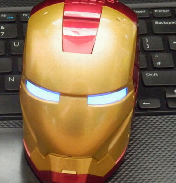 Iron Man Super Bluetooth Speakers Mini Portable Wireless Speaker For Tf Card + Usb With Retail Package Hot