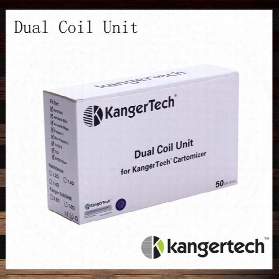 Kanger New Dual Coil For Aerotank Aerotank Mega Aerotank Mini Evod Glass Protank3 Emow Dualcoil Unit For Kanger Clearomizers 100% Original