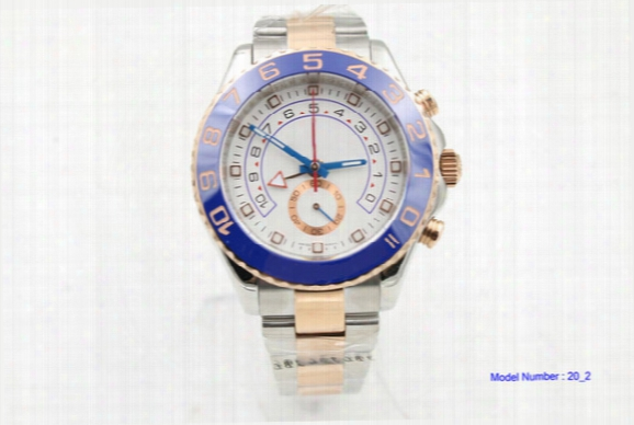 Luxury Men's Sapphire Crystal 116688 Blue Ceramic Bezel Rose Golden Perpetual Automatic Movement 2 Tone Watch Sport Wristwatch Mens Watches