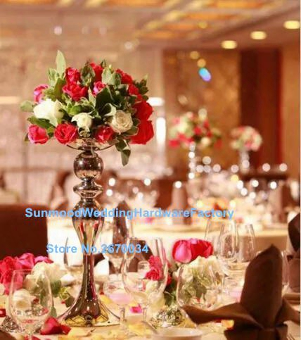 Luxury Wedding Mental Candelabra And Flower Bowl/tall Centerpiece Stands/ Tall Vase Centerpieces Wholesale