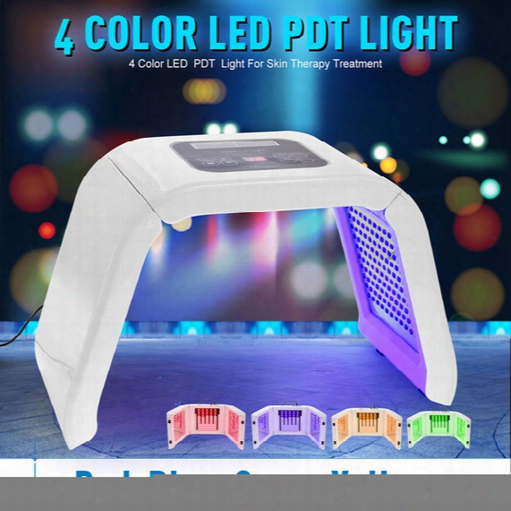 New 4 Color Led Pdt Easy  Skin Care Beauty Machine Led Facial Spa Pdt Therapy For Skin Rejuvenation Acne Remover Anti-wrinkle