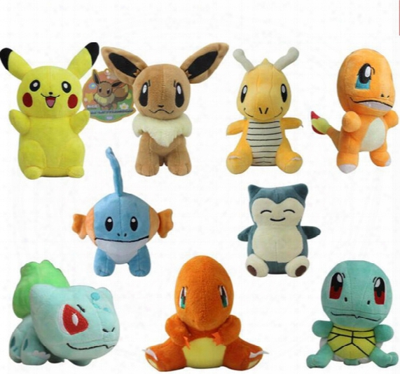 Poke Plush Toys 9-15cm Pikachu Bulbasaur Squirtle Charmander Gengar Cartoon Soft Stuffed Doll Figure Toy 11 Styles Ooa1338