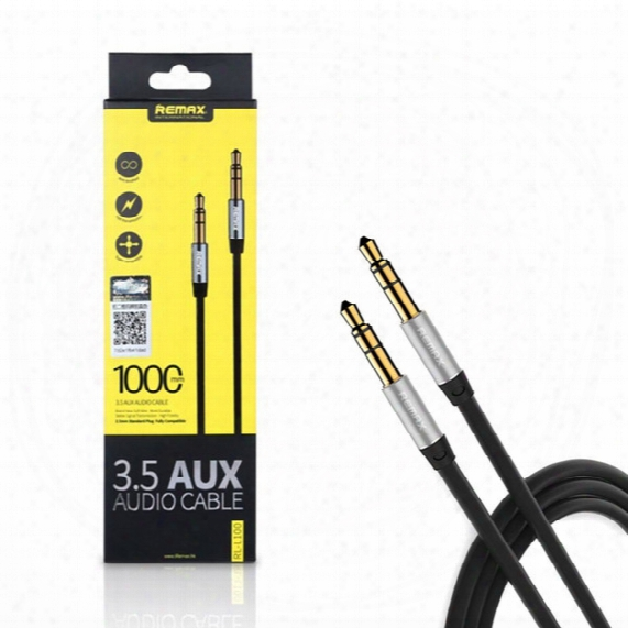 Remax 3.5mm Aux Audio 3ft 6ft Cable Male To Male For Apple Android Smartphone And Car Stereo