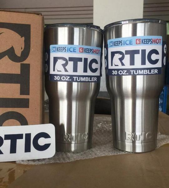 Rtic Cups Tumbler Cups Car Cups Stainless Steel 30oz 20oz Cooler Bilayer Insulation Water Bottles Mugs Travel Mug Kka1544