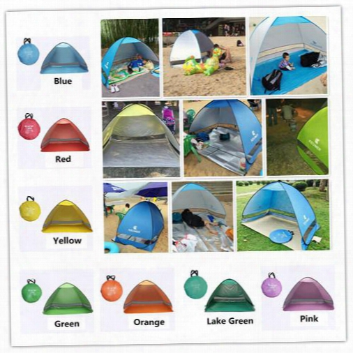Simpletents Easy Carry Tents Outdoor Camping Accessories For 2-3 People Uv Protection Tent For Beach Travel Lawn 20 Pcs /lot Colorful Tent